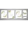 floral wedding save the date invitation cards vector image vector image