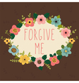 Forgive me Postcard vector image vector image