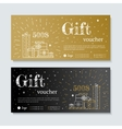 gift certificate with gifts vector image vector image