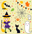 Halloween fun set vector image vector image