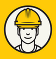 hard hat safety - construction worker sign vector image vector image