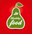 healthy food pear vector image vector image
