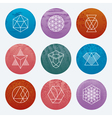 Hipster Linear Emblems Set vector image vector image