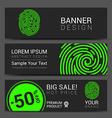 ID app icon Fingerprint banner vector image