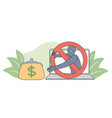 internet crime and money fraud concept vector image