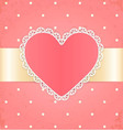 Invitation or greeting card with heart vector image vector image