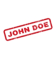 John Doe Text Rubber Stamp vector image