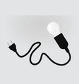 lamp and plug vector image vector image