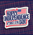 logo for independence day of usa vector image vector image