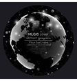 Music album cover templates World globe global vector image vector image