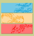 notes music melody colorful musician banner vector image vector image