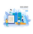 online education concept web archive and e vector image