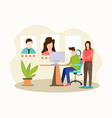 online job interview appointment new employee vector image vector image