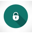 Open lock icon vector image