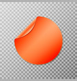 orange circle round peel off paper sticker vector image