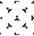 orthodox jew pattern seamless black vector image vector image