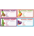 Personalized school money patches with teacher vector image