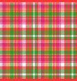 pink color check plaid seamless pattern vector image vector image