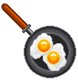 Pixel fried eggs isolated vector image vector image