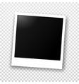 polaroid photo frame with shadow vector image