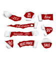 promo banners ripped paper sale advertizing tags vector image vector image