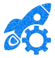 Rocket Development Grainy Texture Icon vector image vector image