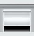 rolling shutter door roller garage metal gate vector image vector image