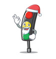 santa traffic light character cartoon vector image vector image