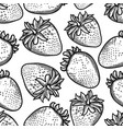 seamless pattern of graphic strawberries vector image