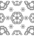 Seamless White and Black traditional vector image vector image