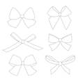 set graphical decorative bows vector image vector image
