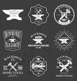 set vintage blacksmith labels and design vector image