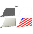 Shasta County California outline map set vector image vector image