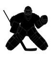 silhouette hockey goalie vector image