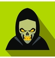 Skeleton flat icon with shadow vector image