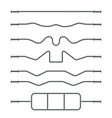 sports gear bar vector image vector image