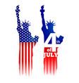 statue of liberty newy york city landmark vector image
