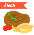 steakflat design vector image vector image