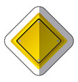 sticker yellow diamond shape traffic sign icon vector image vector image