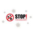 stop coronavirus covid-19 pandemic world lockdown vector image vector image
