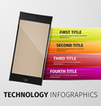 technology infographics vector image