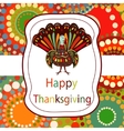 Thanksgiving day Beautiful colorful ethnic turkey vector image