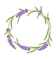 the lavender elegant frame with bouquet flowers vector image vector image