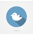 Twitter bird social media icon vector image