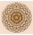 vintage circular pattern indian vector image