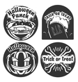 Vintage halloween emblems vector image