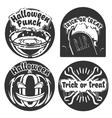 Vintage halloween emblems vector image vector image