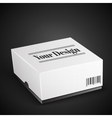 White Package Box Isolated On Black vector image vector image