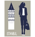 Woman in Istanbul vector image