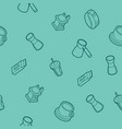 coffee outline isometric pattern vector image